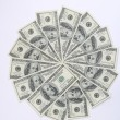 Big pile of money. stack of american dol — Stock Photo