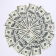 Stock Photo: Big pile of money. stack of american dol