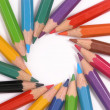 Assortment of colored pencils — Stock Photo