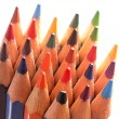 Sharp color pencils pointing upward — Stock Photo