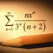 Closeup of an equation with a pencil — Stock Photo #2714023