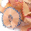 Shavings from a pencil — Stock Photo