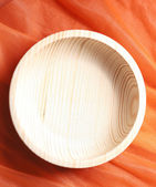 Handmade wooden bowl — Stock Photo