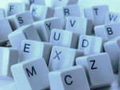 Close up of computer keys — Stock Photo
