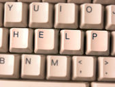 Keyboard, Inscription help — Stock Photo