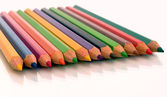 Assortment of colored pencils — 图库照片