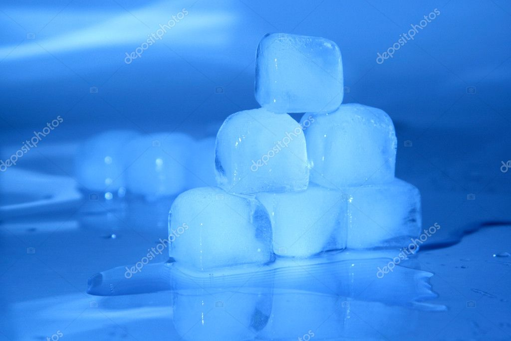 Cool ice background or texture in blue with copyspace — Stock Photo #2713061
