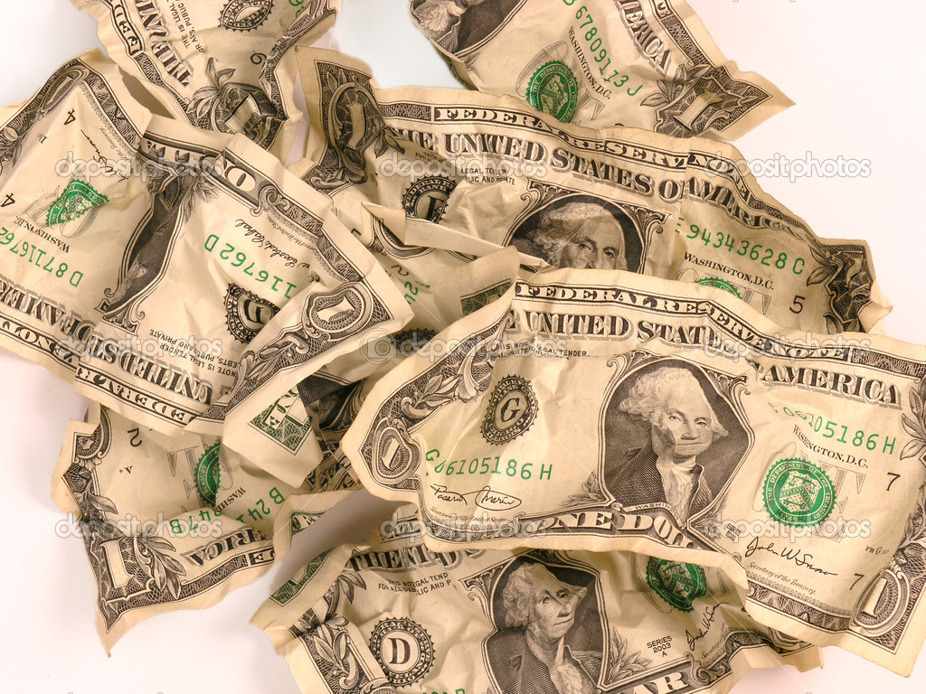 One dollar bill at an angle — Stock Photo #2715173