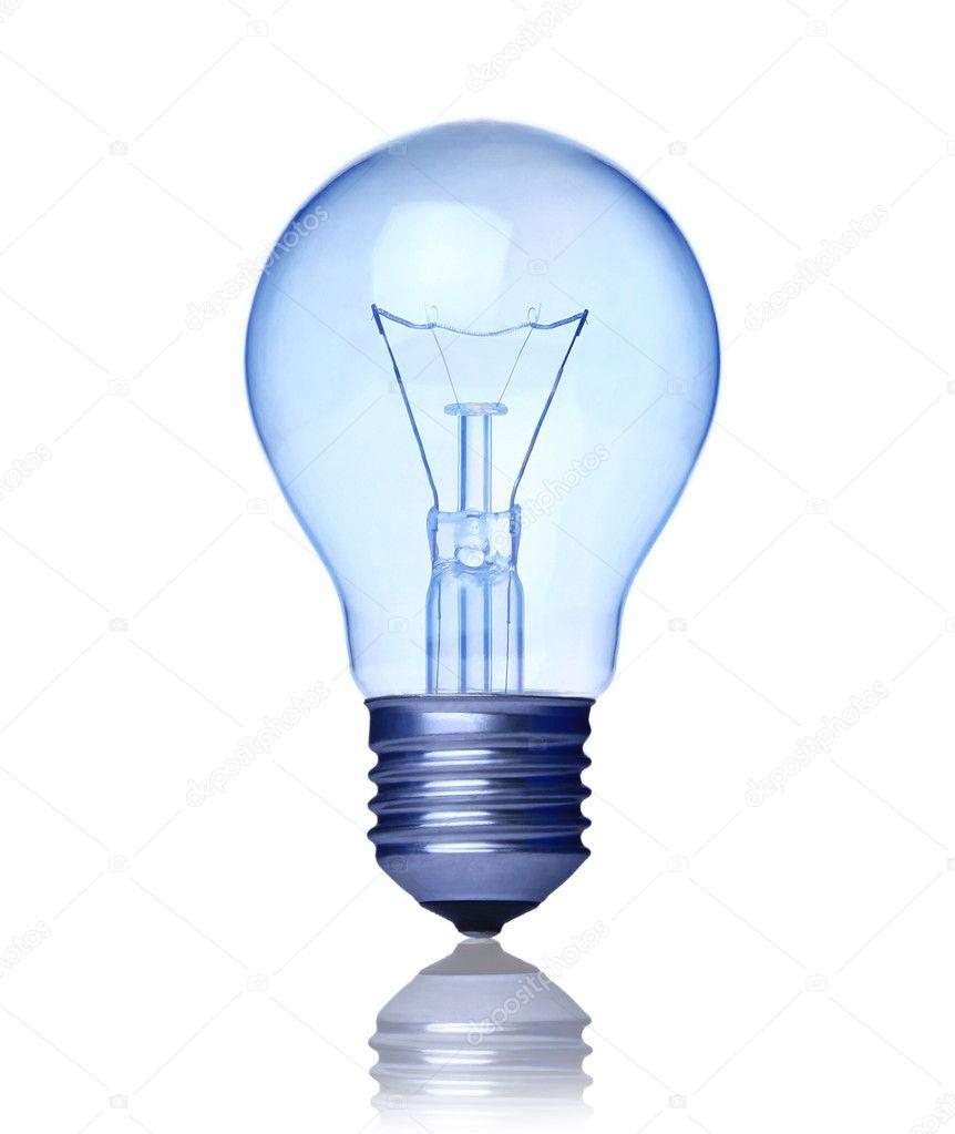 Blue Light Bulb Stock Photo Depgosper 2823820