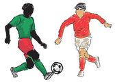 Footballer — Wektor stockowy