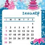 January — Stock Vector
