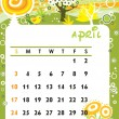April — Stock Vector
