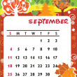 September — Vector de stock #3887043