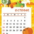 October — Stock Vector #3887049