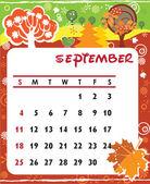 September — Stock Vector