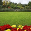 Picturesque glade in Butchard-garden - Stock Photo
