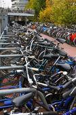 The bike parking near the railway station — Stock Photo