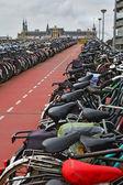 The long bike parking — Stock Photo