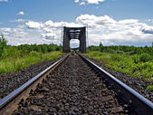老铁路桥梁 — 图库照片