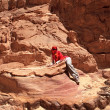 Stock Photo: Tourist in the Colored Canyon.