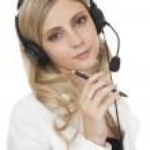 Beautiful business woman with headset — Stock Photo #3607165