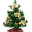 Stock Photo: Artificial Christmas tree decorated.