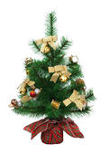 Artificial Christmas tree decorated. — Stock Photo