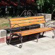 Forged bench — Stock Photo