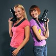 Stock Photo: Girls photographers
