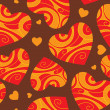 Abstract background with hearts — Imagen vectorial