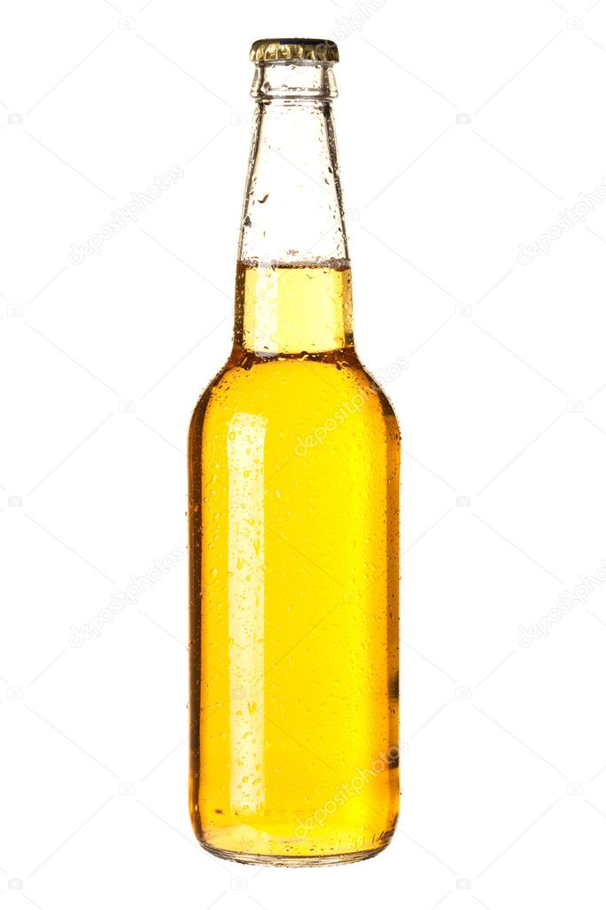 Beer collection - Cold lager beer in bottle. Isolated on white background — Stock Photo #2736207