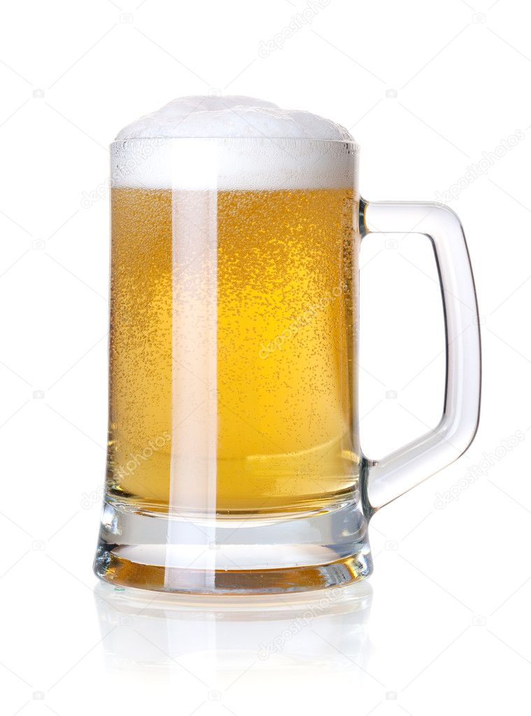 Beer collection - Cold lager beer in glass. Isolated on white background — Stock Photo #2770549