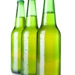 Three beer bottles — Stock Photo