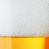 Macro beer with froth — Stock Photo