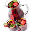 Refreshing fruit sangria (punch) — Stock Photo #3235407