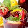 Refreshing fruit sangria, closeup — Stock Photo #3275149