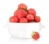 Bowl with strawberry — Stock Photo
