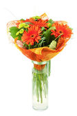 Orange gerbera bouquiet — Stock Photo