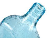 Blue bottle closeup — Stock Photo