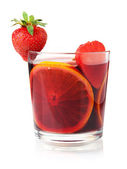 Refreshing fruit sangria — Stock Photo