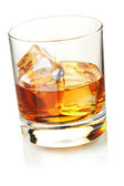 Whiskey with ice cubes — Stock Photo