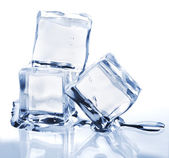 Three melting ice cubes — Foto Stock