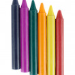 Colored wax crayons — Stock Photo