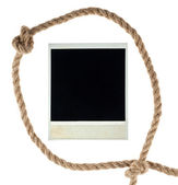 Old empty photo card in a loop — Stock Photo