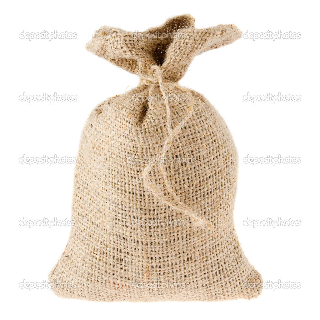 Canvas sack isolated on white  Stock Photo #2909343