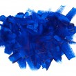 Blue paint stroke - Stock Photo