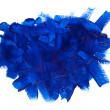 Blue paint stroke — Stock Photo