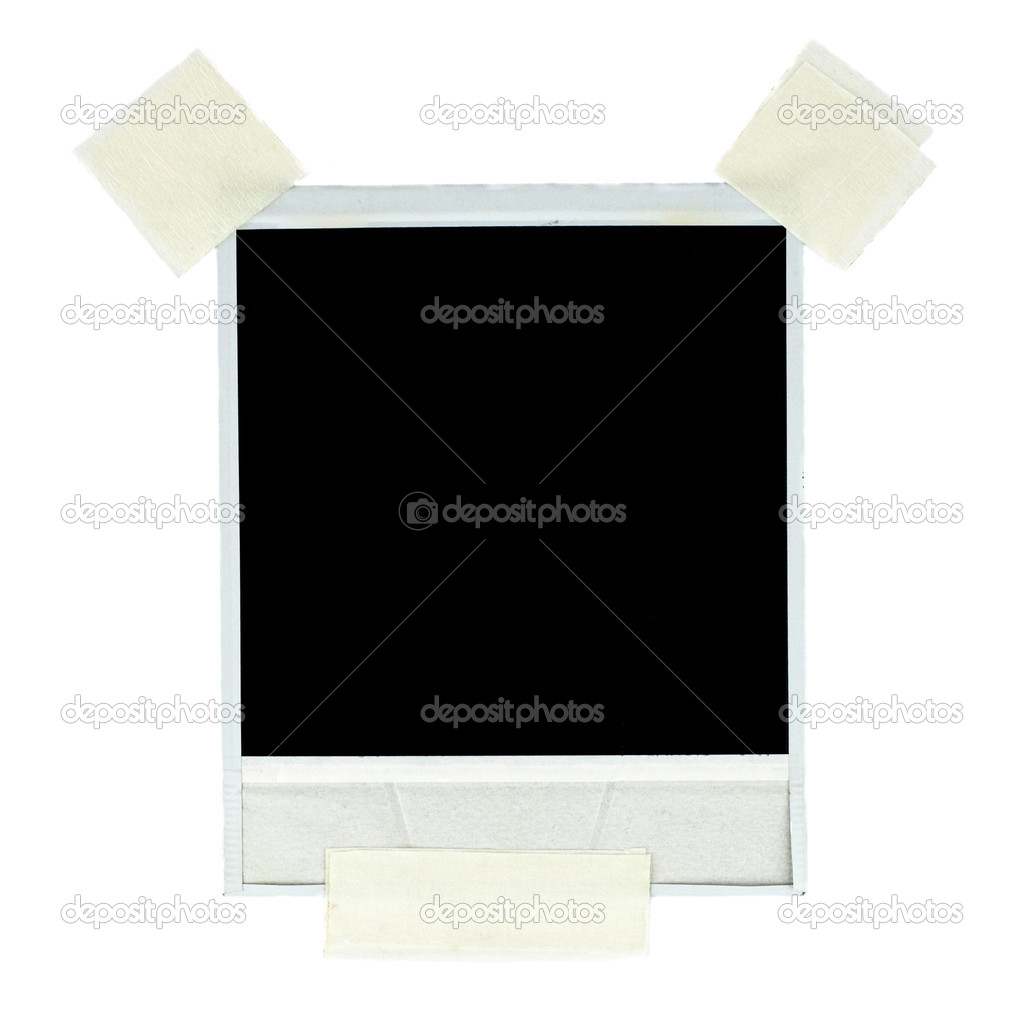 Blank photo card with masking tape — Stock Photo #2910458