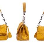Yellow bag on white background — Stock Photo #2706013