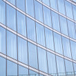 Modern building glass reflections — Stock Photo